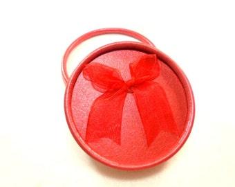 Jewelry box, 8.5 cm, red
