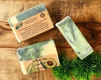 Avocado Lime Soap, Avocado Soap, Luxury Soap, Lime Essential Oil Soap, Vegan Soap, Citrus Scented Soap, Soap For Dry Skin Sensitive Skin Bar