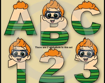 Nonny (Bubble Guppies) Alphabet Letters & Numbers Clip Art Graphics