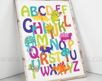 Alphabet Poster - Nautical Alphabet Poster, Alphabet Poster, Playroom Poster, Nautical Poster, Alphabet Nursery Art, Nursery Art, 22-0053