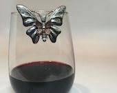 Wine Glass Marker Butterfly Wine Glass Charm Wine Glass Bling