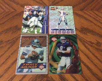 4 Troy Aikman (Dallas Cowboys) Cards