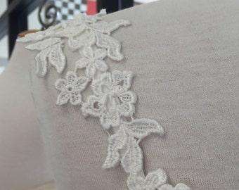 Detachable straps. Venice lace Appliques straps # 78