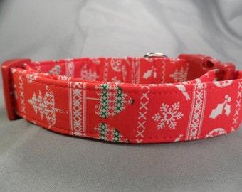 Red Ugly Christmas Sweater Christmas Dog Collar