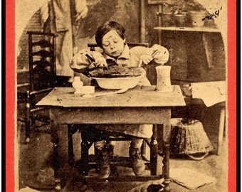 A VERY large print...The CHRISTMAS PIE!!! - Post Civil War holiday feast, 1870s