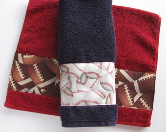 Lovely Towels, Soccer, Basketball, Football, Baseball, Bath Towels, Hand Towels,