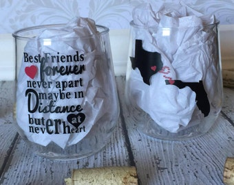 Best Friend Wine Glasses