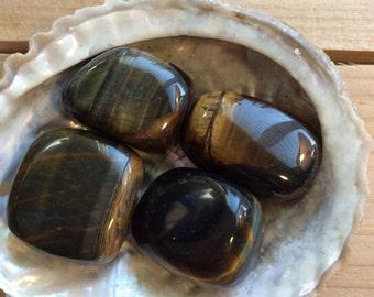 Blue Tiger Eye Tumbled Stones, Calming Stones,  Healing Stones, Chakra Stones, Spiritual Stone, Healing Crystals