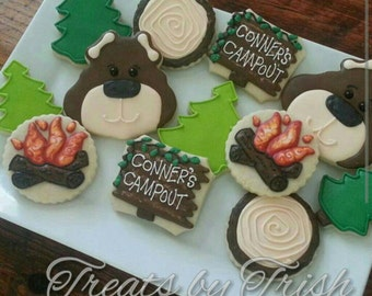 Campout Birthday Cookies