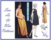 1960s Pucci Vogue Couturier Design 1862 Sleeveless Evening Cocktail Surplice Wrapped Dress Vintage Sewing Pattern Misses' Size 10 Bust 32 34