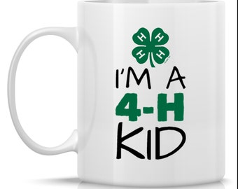 I'm a 4-H Kid Mug - for 4-H member - 4-H gift - gift for 4-H member - 4h livestock - 4h kid