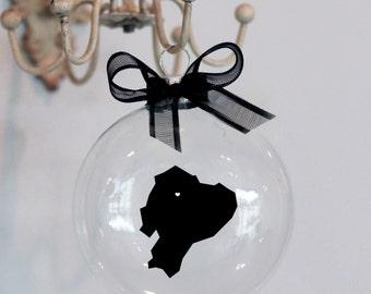 Ecuador Christmas Ornament, Custom, Adoption, Travel, Mission