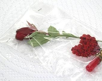 Silk rose bud