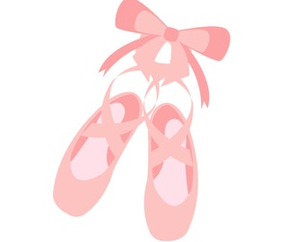 SVG Ballet Shoes Cuttable File - INSTANT DOWNLOAD - for use with silhouette cameo, cricut, Sizzix, other machines