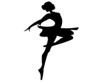 SVG Ballerina silhouette Cuttable File - INSTANT DOWNLOAD - for use with silhouette cameo, cricut, Sizzix, other machines