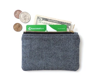 Denim Wallet Coin Purse Zipper Pouch Slim Wallet