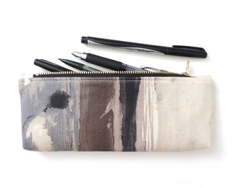 Pencil Case Zipper Pencil Pouch Abstract Painted