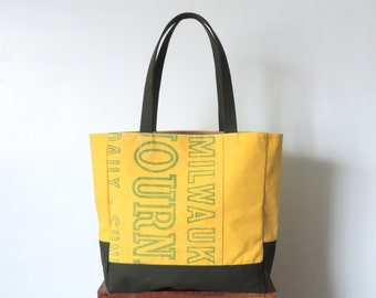 Recycled Canvas Tote Bag Milwaukee