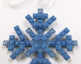 Custom Lego Snowflake Christmas Holiday Ornament