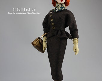 vintage wool ensemble for Silkstone Barbie and Poppy Parker by SL Doll Fashion