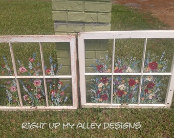 Old Windows,Shabby Chic window,Antique Windows,Old Painted window,Unique window,Window frame art,WINDOW SOLD