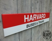 "22"" Officially Licensed Painted MBTA Station Signs Harvard"
