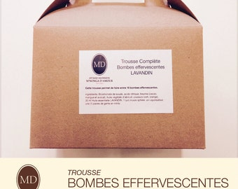 Kit manufacturing: effervescent bombs Lavender
