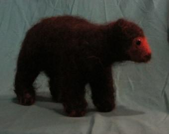 Polar OR Black Bear of Felted Wool and Alpaca