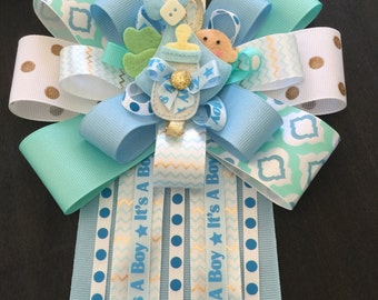 It's a Boy baby shower mum, corsage for Baby Shower, Mum for mom to be, baby shower keep sakes, baby book keepsakes