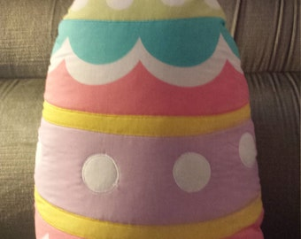 Easter Egg Quilted Decorative Pillow