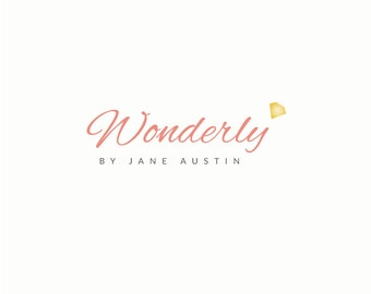 Boutique Logo Design - Premade Jewelry Logo Design. Diamond Logo Design, Fashion Business Branding, Creative Logo, Diamond Logo, Modern Logo