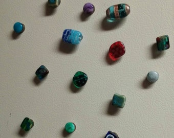 Beautiful beaded magnets