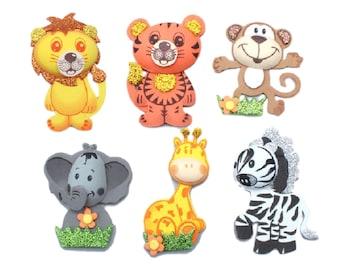 12 (6 Styles) Foam Jungle Animals  Tall Baby Shower Birthday Noah's Ark Theme
