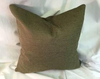 Designer Decorative Throw Pillow Olive Green Chenille