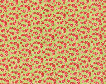 1/2 Yard - Little Ruby Roses Green Fabric by Bonnie and Camille - 55138 14