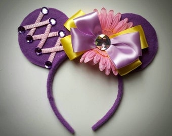 Rapunzel inspired Minnie Mouse Ears