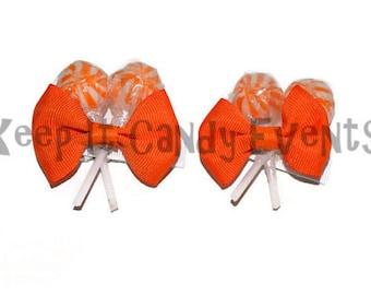 Orange Lollipop Hair Clips, Flower Girl Accessory, Candy Hair Clip, Wedding, Bridesmaid, Sweet Sixteen, Orange, Lollipop, Candyland