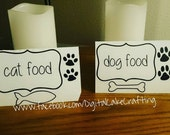Cat Food Label OR Dog Food Label - Pet food Vinyl Canister Labels - Pet food decal / pet food container sticker