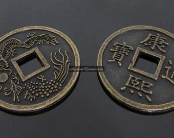 Lucky Chinese Coins 2PCS