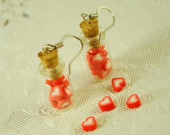 candy  jar earrings - food jewelry