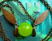 GOING OUT of BUSINESS--50% off Ocarina of Time-inspired Kokiri Forest fairy necklace