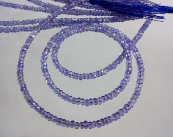 14-inch Tanzanite AAA quality micro faceted rondelle beads size 2.5mm GW1647