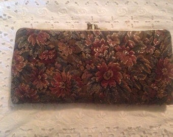 Tapestry & Leather Wallet