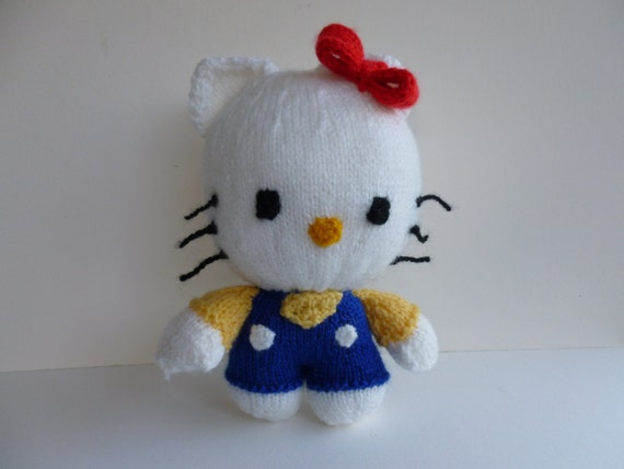 Hello Kitty Doll Toy Knitting Pattern : Hello Kitty knitted toy