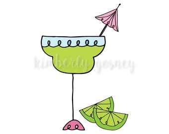 Margarita Clipart, margarita glass, margarita party, girls night out clipart