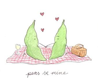Peas Be Mine Greeting Card