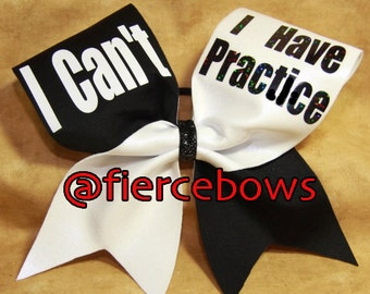 I Can't, I Have Practice Bow