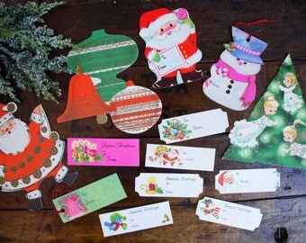 Christmas Tags ~ Unused Vintage ~ Lot of 20