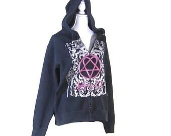 RESERVED FOR RANDY  H.I.M. Sweatshirt, Large hooded sweatshirt, EuropeanRetroFashion, H.I.M. rock band jacket, collectors sweatshirt