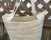 Striped Tote with Handles